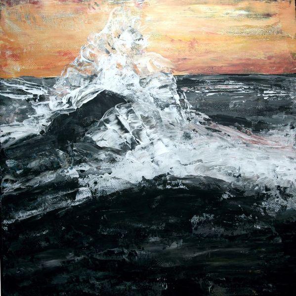Himmel, Wasser, Gischt, Meer, Malerei