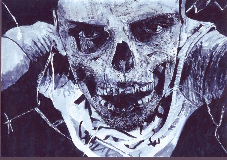 Zombie, Grusel, Halloween, Malerei