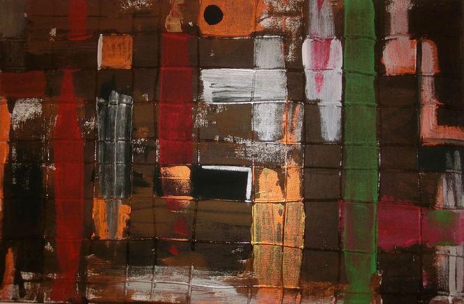 Pinsel, Spachtel, Malerei,