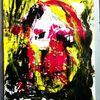 Acrylmalerei, Gesicht, Abstrakt, Portrait