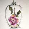 Tuschmalerei, Rose, Blumen, Aquarellmalerei