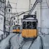 Lissabon, Straßenbahn, Malerei,