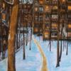 Gemälde, Landschaft, Gouachemalerei, Malerei