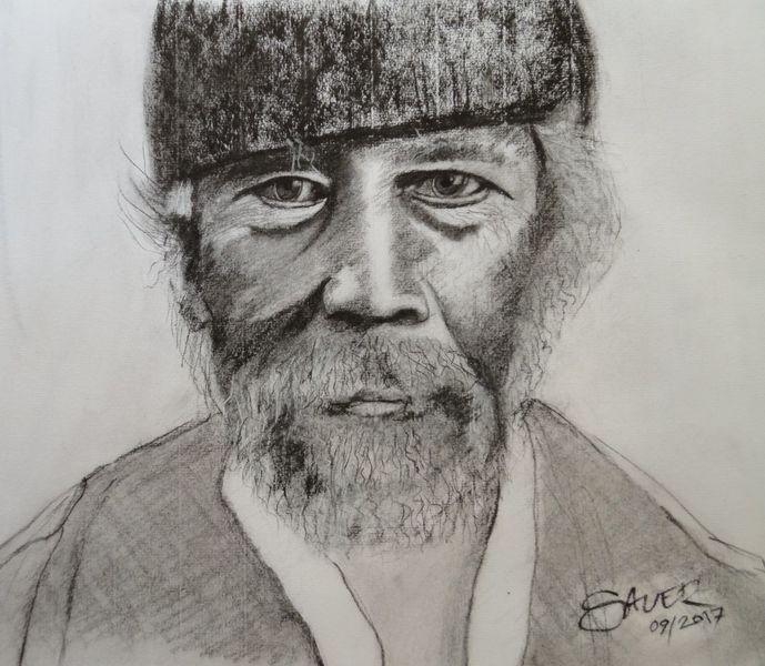 Portrait, Bart, Alter mann, Malaye, Zeichnungen