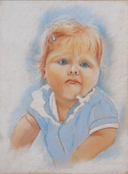 Kinderportrait, Babyalter, Haarspange, Zeichnungen