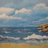 Meer, Felsen, Strand, Himmel