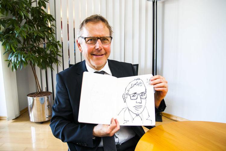 Einskommafuenfmoimuenchner, Portrait, Der millionen maler, 5 mio münchner, Schnellzeichnungen, Bürgermeister schwabhausen