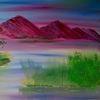 Horizont, Berge, Malerei,