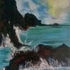 See, Landschaft, Wasser, Malerei