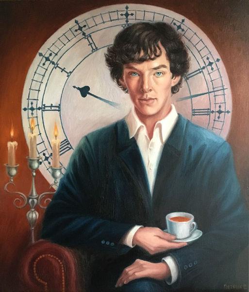 Wissen, Portrait, Sherlock holmes, Sphinx, Malerei