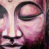 Gelassenheit, Buddha, Pink, Malerei