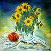 Sonnenblumen, Malerei, Stillleben