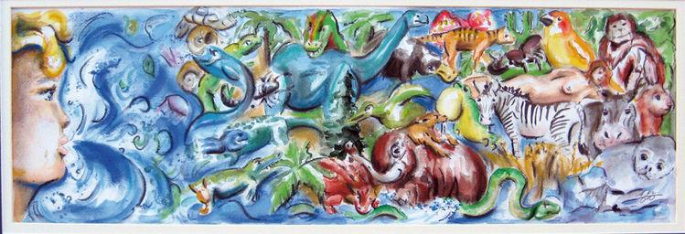 Tiere, Evolution, Leben, Freude, Malerei