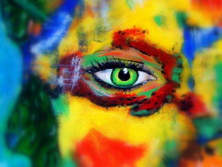 Gelb, Rot, Blau, Augen, Grün, Malerei