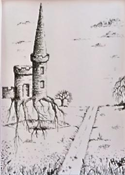 Tuschmalerei, Schloss, Zeichnungen