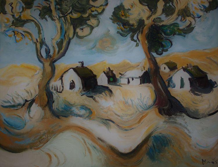 Landschaft, Mecklenburg, Haus, Malerei