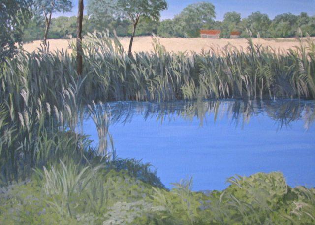 Landschaft wasser natur, Malerei