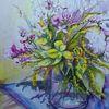 Blumenstrauß, Stillleben, Sommer, Aquarell