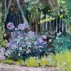 Busch, Storchenschnabel, Garten, Aquarell