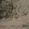 Hütte, Schnee, Rubbelkrepp, Winter