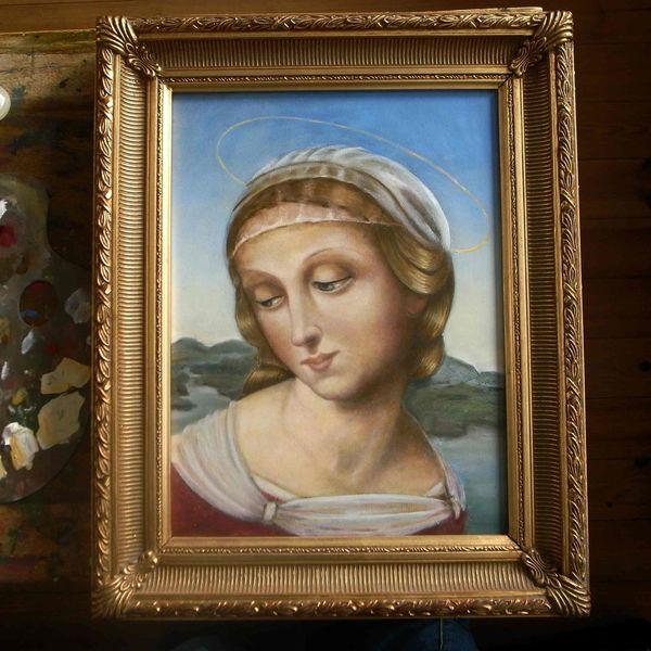 Portrait, Mädchen, Ölfarben, Alte meister, Ölmalerei, Frau