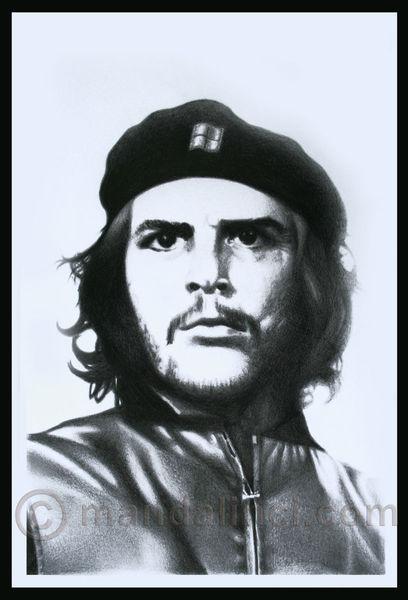 Realismus, Retro, Politik, Che, Selbstportrait, Zeichnungen