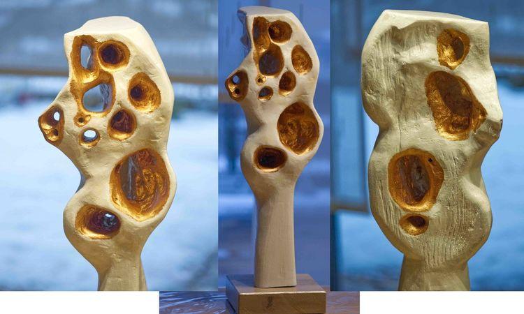 Skulptur holzobjekt, Abstrakte skulptur, Schnitzkunst, Plastik