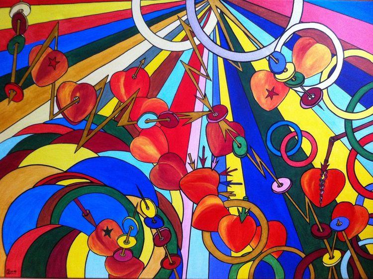 Malerei, Weg, Leben