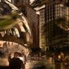 Stadt, Hochhäuser, Chikago, Digitale kunst