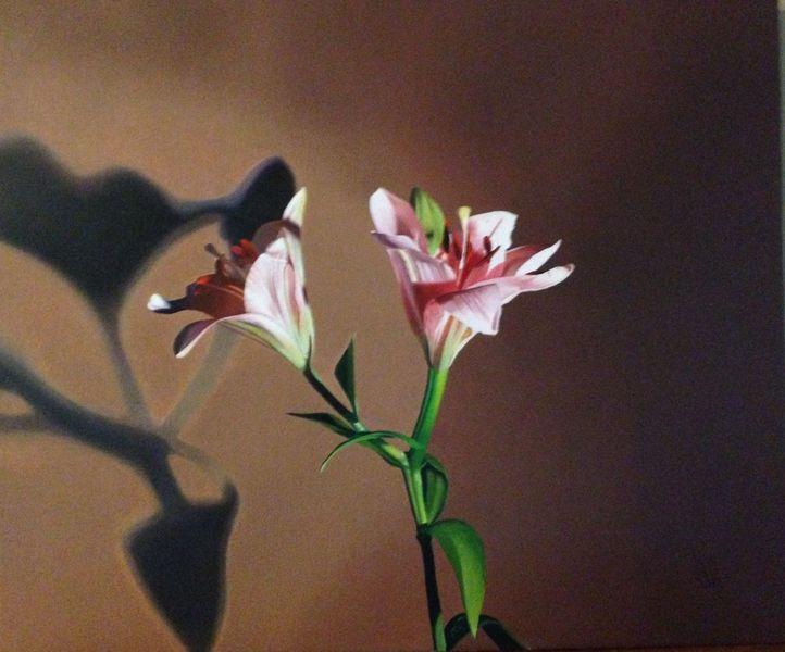Ölmalerei, Lasurtechnik, Realismus, Malerei, Lilien