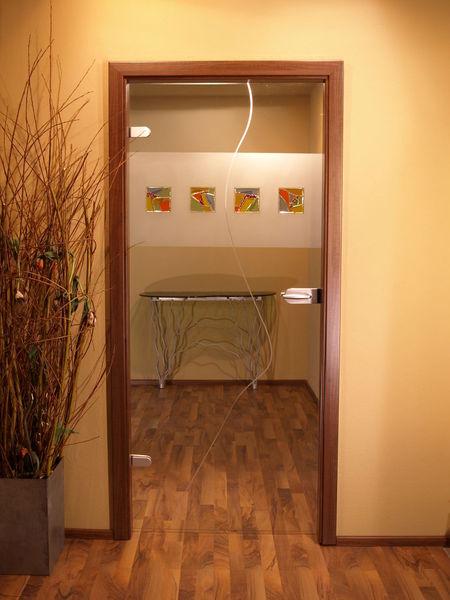 Design, Tür, Fusing, Bunt, Modern, Ganzglastür