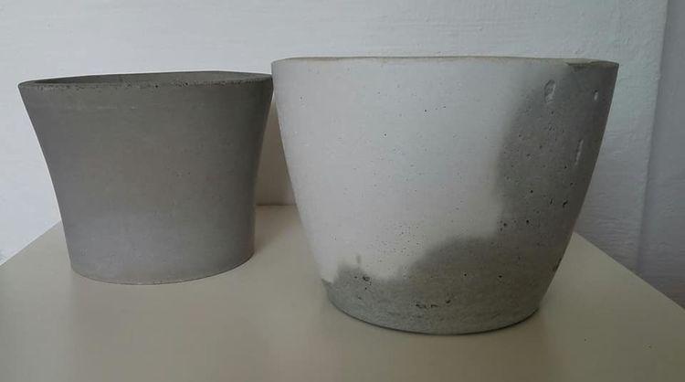 Stein, Modern, Blumentopf, Grau, Dekoration, Kunsthandwerk