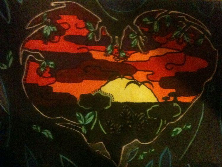 Zeichnung, 2012, Landschaft, Zeichnungen,