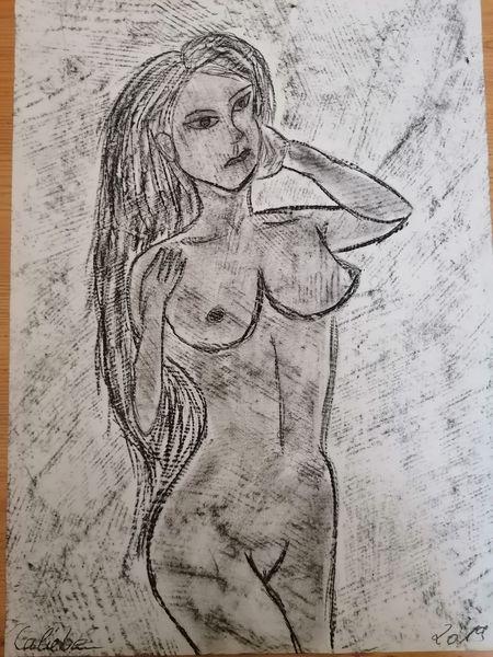 Weiblich, Zeichnung, Schönheit, Akt, Weiblichkeit, Bleistiftzeichnung