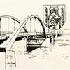 Wappen, Bauwerke, Federzeichnung, Korona
