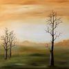 Morgensonne, Landschaftsmalerei, Hügel, Lichtung