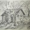 Zeichnung, Kohlezeichnung, Wischen, Zeichnungen