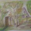 Zeichnung, Mischtechnik, Tuschmalerei, Pastellmalerei