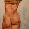 Zeichnung, Wachsmalstifte, Rücken, Auf papier