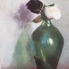 Rose, Impressionismus, Pflanzen, Spiegelung