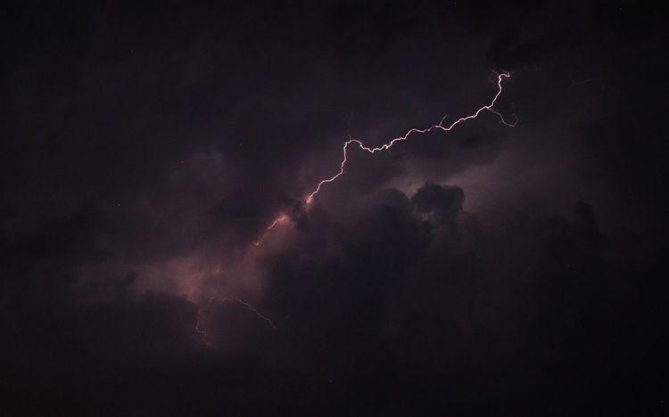 Entladung, Blitz, Strom, Gewitter, Wolken, Fotografie