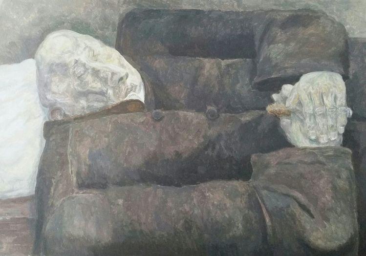 Menschlichkeit, Gegenständlich, Liegend, Malerei, Ewigkeit