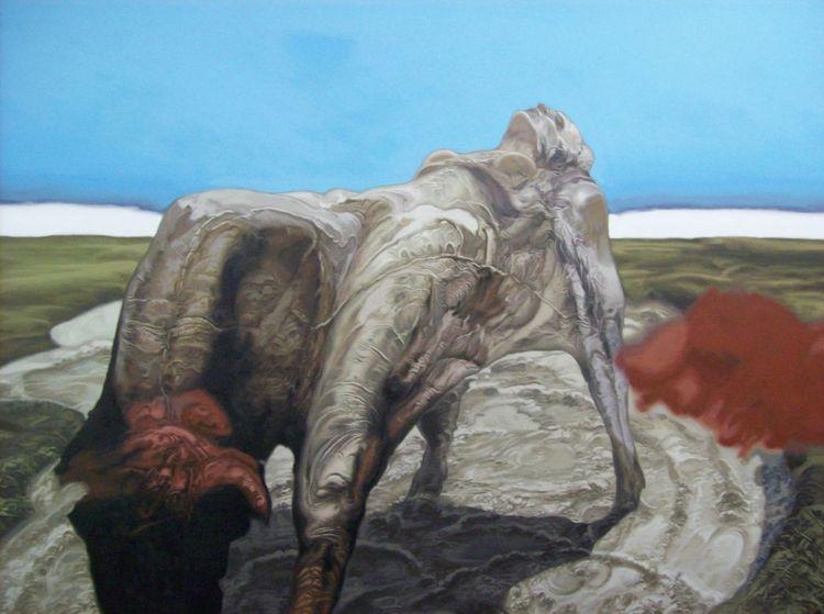 Menschen, Surreal, Tiere, Malerei, Acrylmalerei