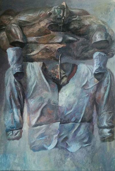 Geist, Frontal, Malerei,