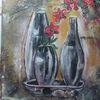 Vase, Struktur, Blumen, Malerei
