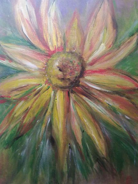 Bunt, Malerei, Sonnenblumen, Herbst, Acrylmalerei, Landschaft