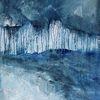 Landschaft, Kälte, Winter, Malerei