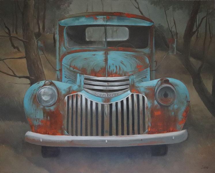 Auto, Ölmalerei, Gemälde, Malerei