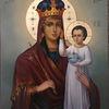 Heilig, Ikonen, Gottesmutter mit kind, Gold
