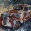 Auto, Ölmalerei, Oldtimer, Gemälde